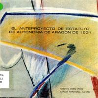 El anteproyecto de Estatuto de Autonomía de Aragón